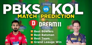 PBKS vs KOL Dream11 Team Prediction 21st Match IPL 2021 (100% Winning Team)