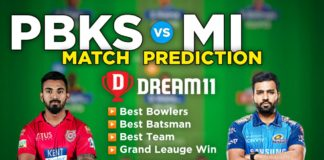PBKS vs MI Dream11 Team Prediction 17th Match IPL 2021 (100% Winning Team)