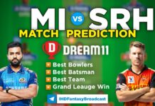 MI vs SRH Dream11 Team Prediction 9th Match IPL 2021 (100% Winning Team)