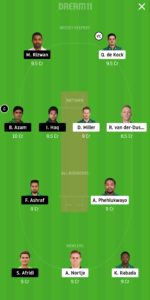 SA vs PAK Dream11 Team for Small League