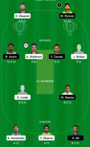 PAK vs SA Dream11 Team for Small League