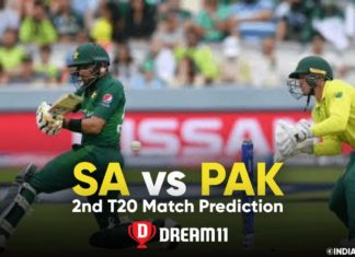 SA vs PAK Dream11 Team Prediction 2nd T20 Match (100% Winning Team)