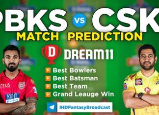 CSK vs PBKS Dream11 Team Prediction 53rd Match IPL 2021 (100% Winning Team)