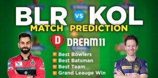 BLR vs KOL Dream11 Team Prediction 10th Match IPL 2021 (100% Winning Team)