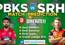 PBKS vs SRH Dream11 Team Prediction 14th Match IPL 2021 (100% Winning Team)