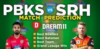 SRH vs PBKS Dream11 Team Prediction 37th Match IPL 2021 (100% Winning Team)
