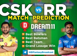 CSK vs RR Dream11 Team Prediction 12th Match IPL 2021 (100% Winning Team)