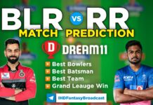 BLR vs RR Dream11 Team Prediction 16th Match IPL 2021 (100% Winning Team)