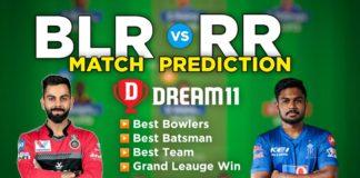 BLR vs RR Dream11 Team Prediction 16th Match IPL 2021 (100% Winning Team)