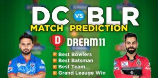 BLR vs DC Dream11 Team Prediction 56th Match IPL 2021 (100% Winning Team)