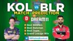 KOL vs BLR Dream11 Team Prediction 31st Match IPL 2021 (100% Winning Team)