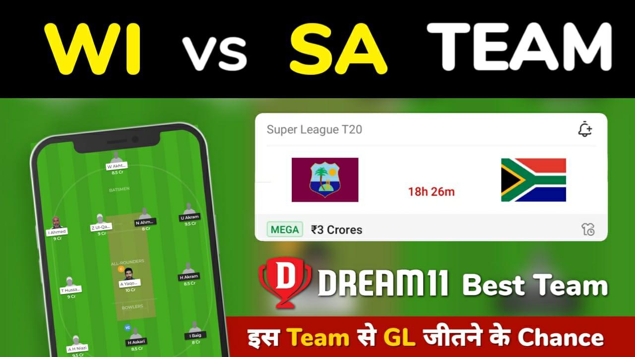 WI vs SA Dream11 Team Prediction 1st Test Match (100% Winning Team)