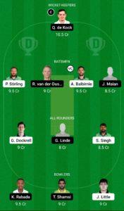 IRE vs SA Dream11 Team for Small League