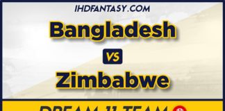 ZIM vs BAN Dream11 Team Prediction 3rd T20 Match (100% Winning Team)