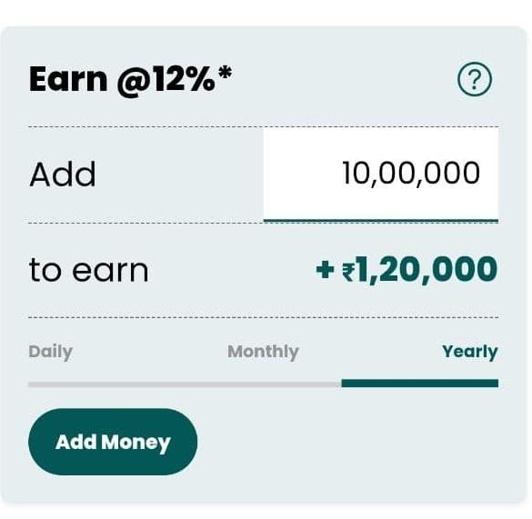 12 % add money
