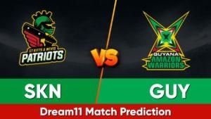 GUY vs SKN Dream11 Team Prediction 5th Match CPL 2021 (100% Winning Team)