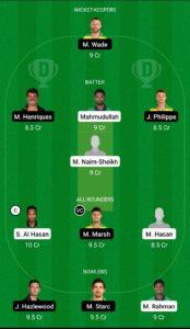 BAN vs AUS Dream11 Team for Small League
