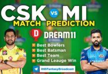 CSK vs MI Dream11 Team Prediction 30th Match IPL 2021 (100% Winning Team)