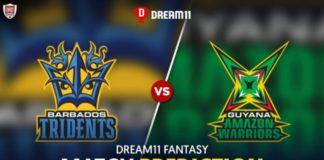 GUY vs BR Dream11 Team Prediction CPL 2021 16th Match (100% Winning Team)
